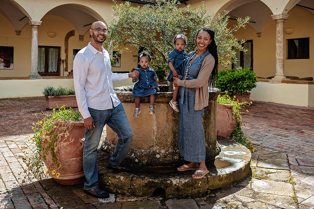Family photoshoot in Pienza