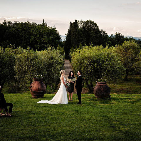 Bride & Groom - Elopment Ceremony in Tuscany countryside