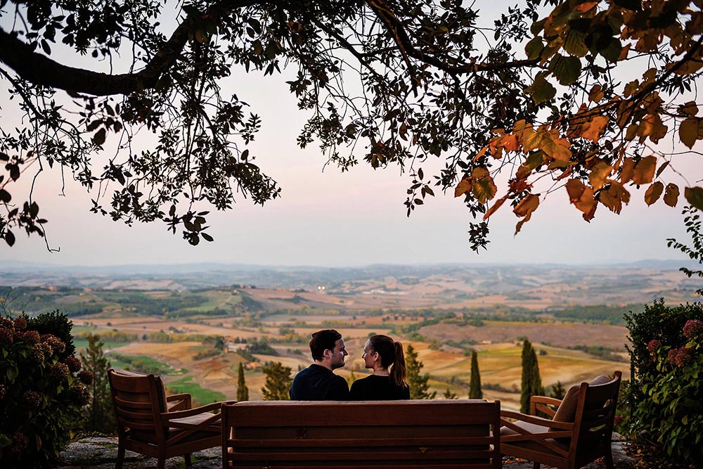 engagement portrait in chianti