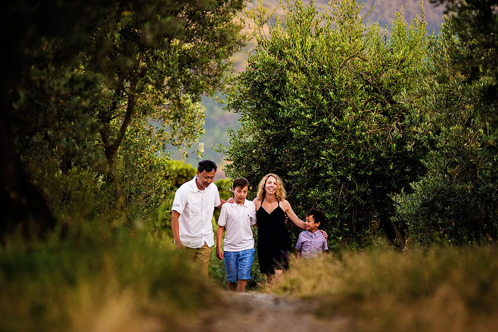 family portrait in chianti