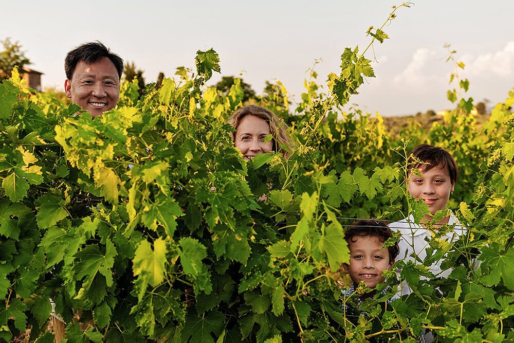 family session in chianti