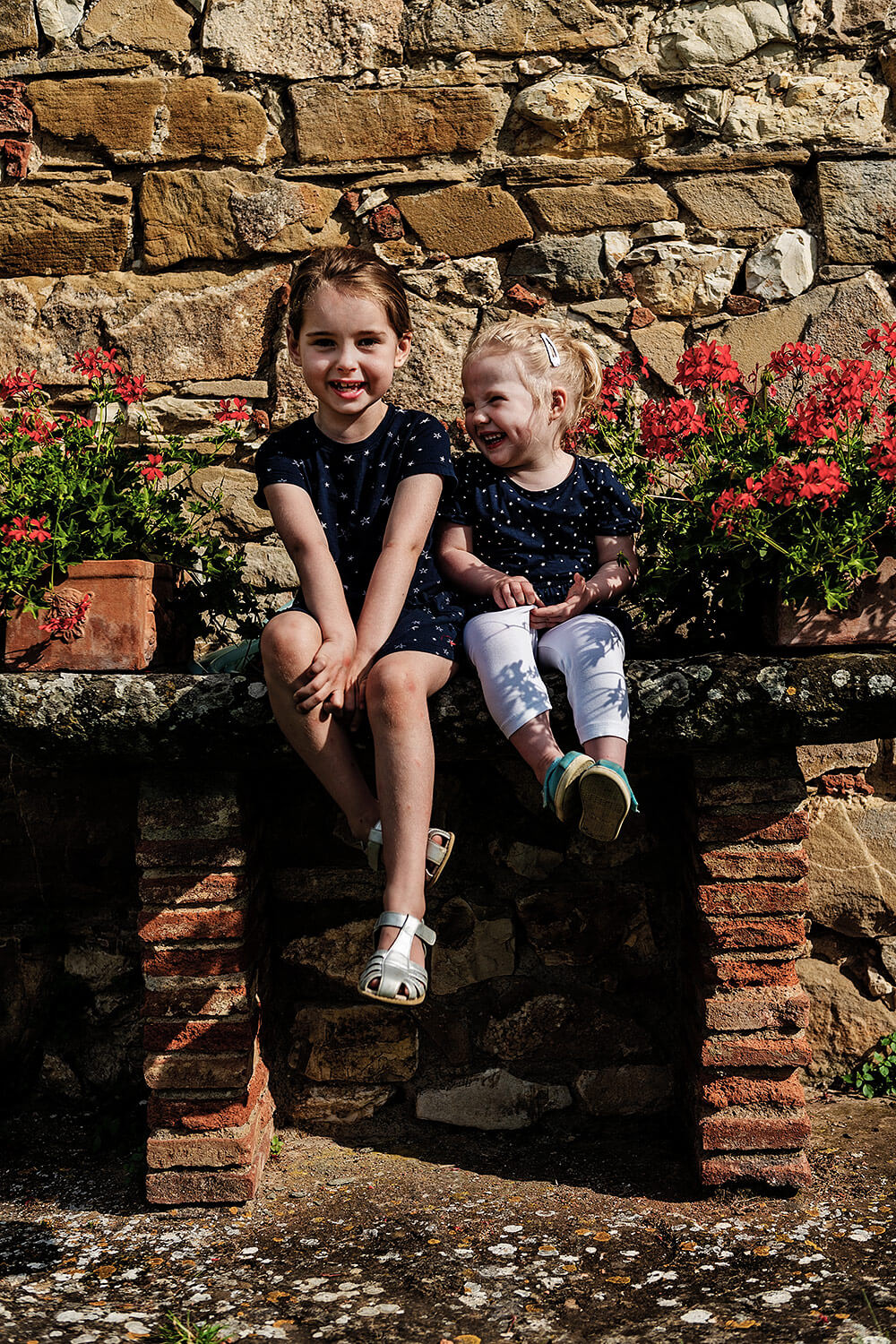 children portrait session in tuscany
