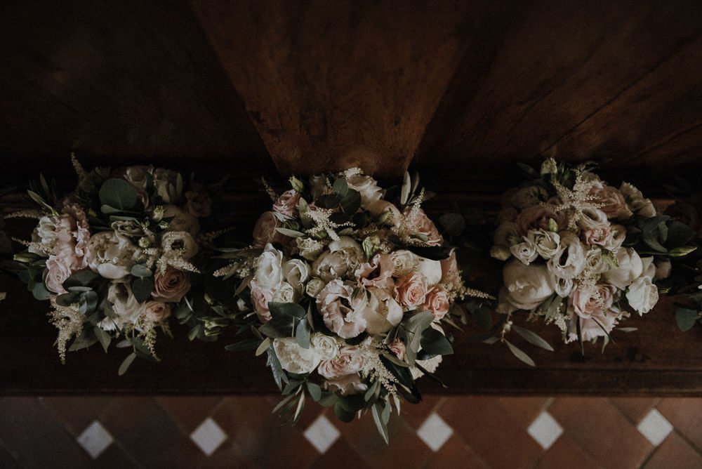 Bridal bouquet, wedding in Tuscany, Italy