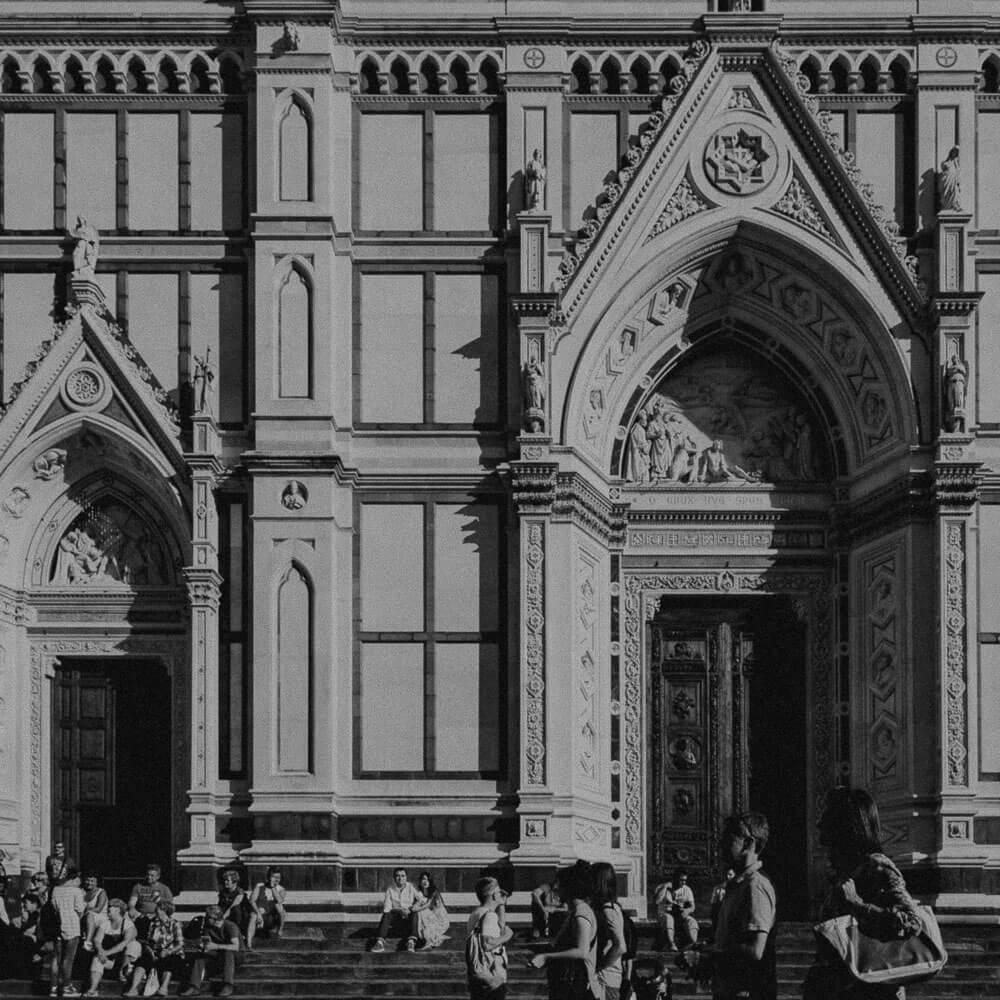 piazza santa croce florence, tuscany