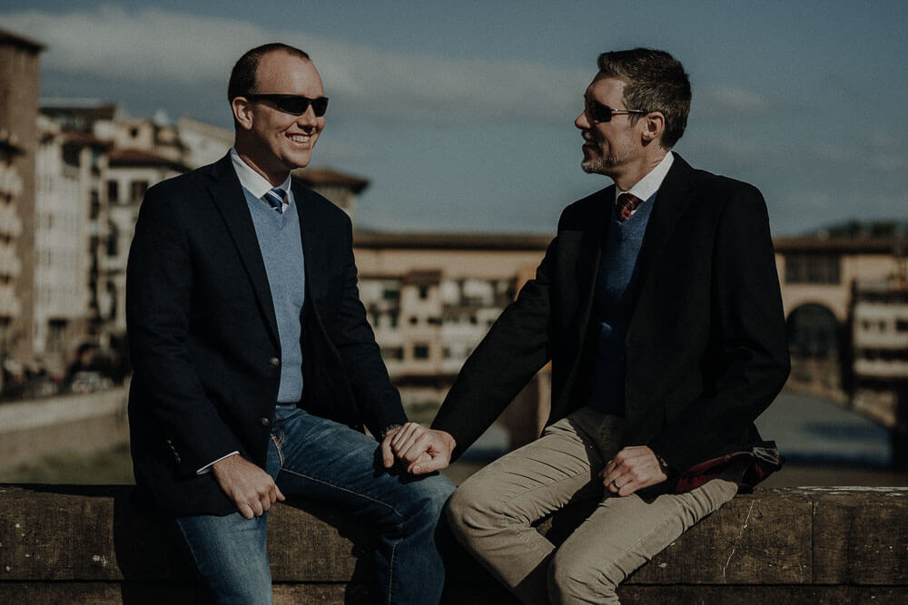 gay engagement in florence, tuscany