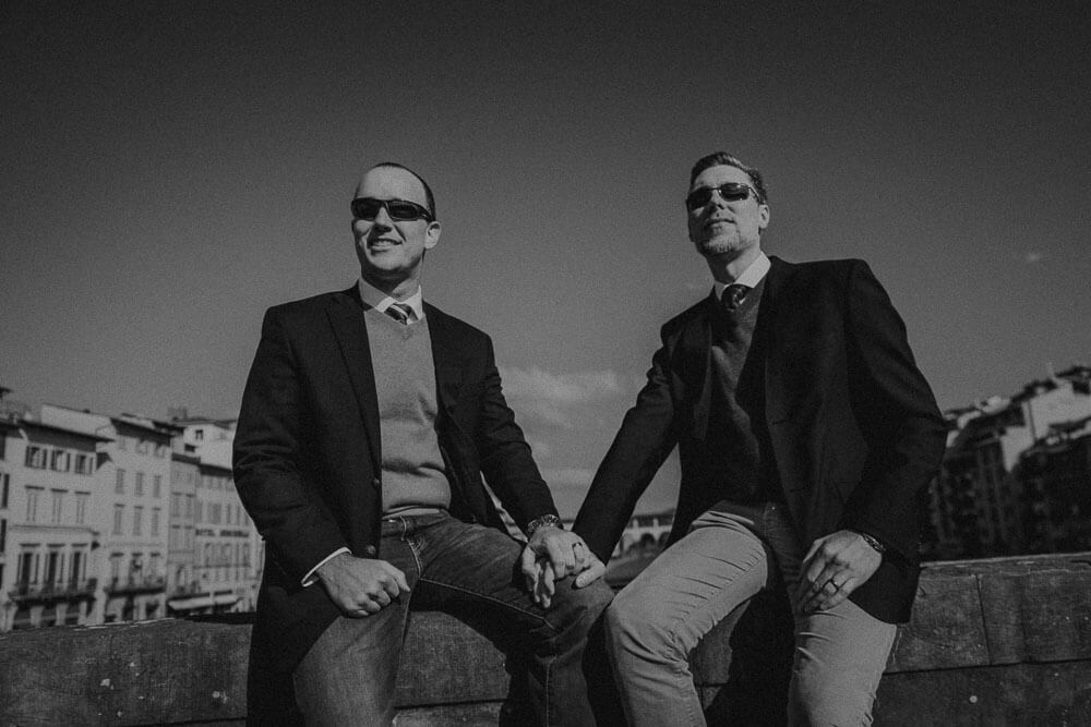 same sex engagement photos in florence, tuscany