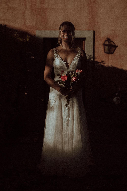 Bride in Tuscany Elopment venue