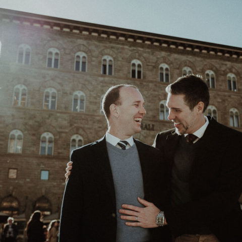 lgbt engagement photos in florence, tuscany