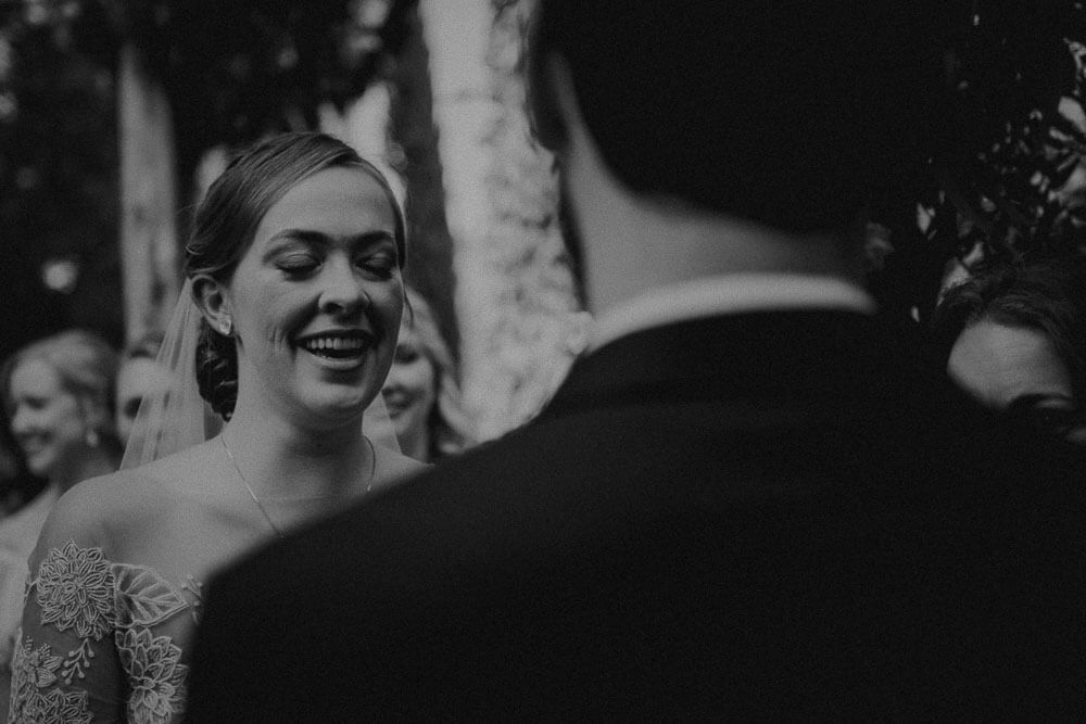 bride and groom look excited for the first time, tuscany wedding