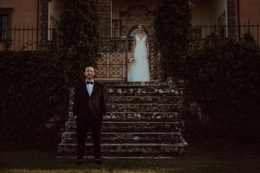 Groom in private villa in Tuscany