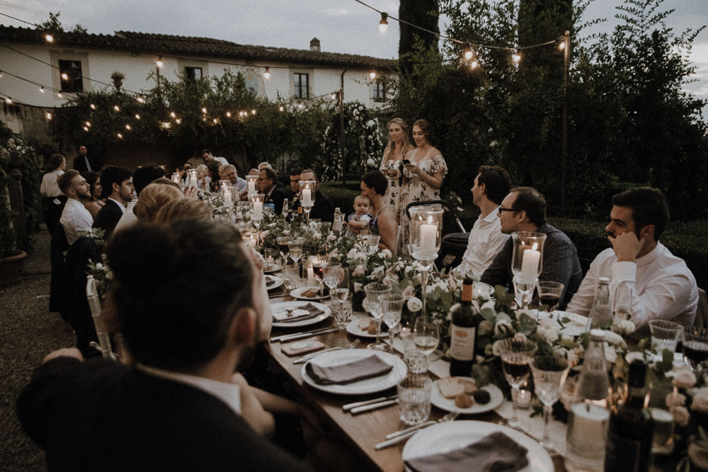 wedding speeches at villa le piazzole, florence