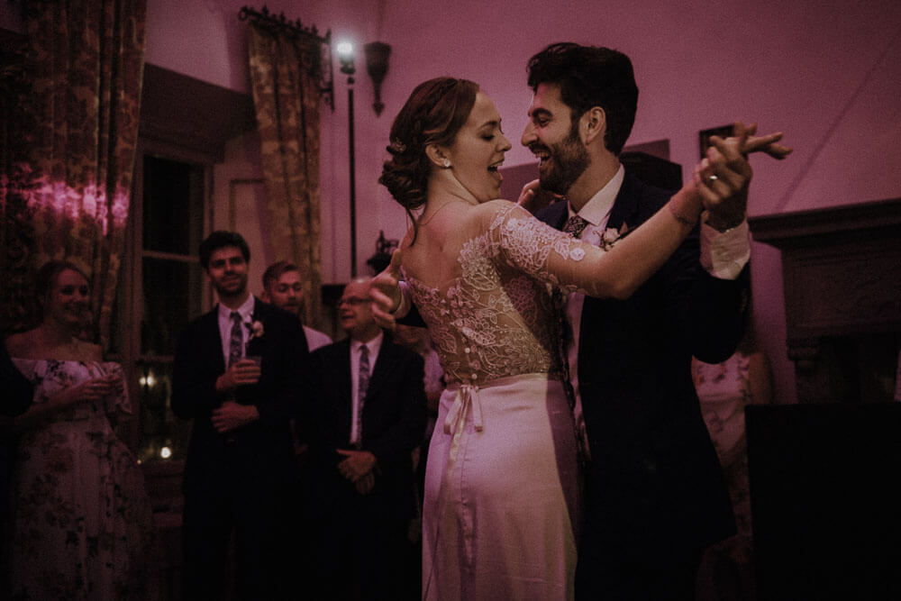 bride and groom first dance, tuscany destination wedding