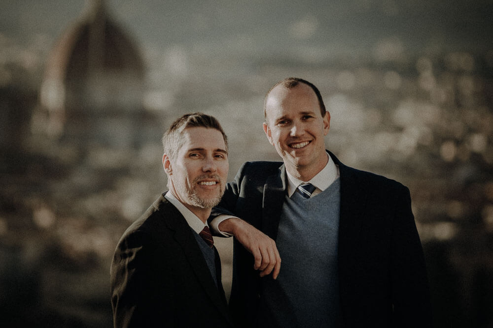 gay portrait in florence, italy