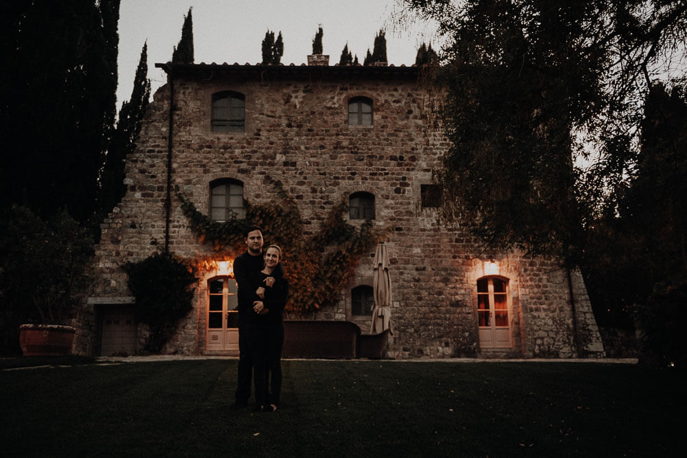 Couple photo in Castiglion del Bosco, Val d'Orcia Tuscany
