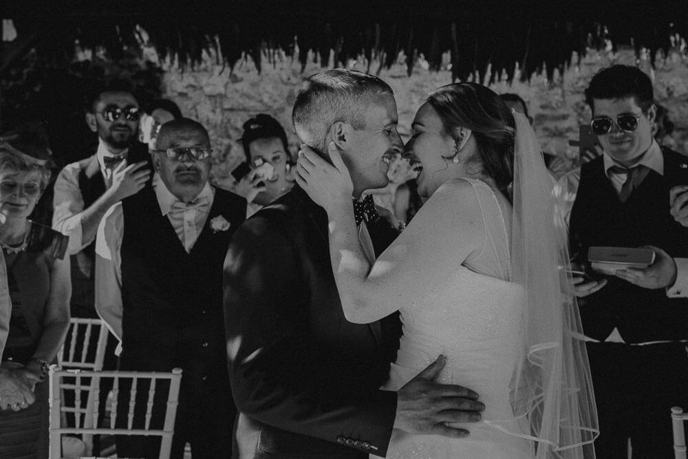 outdoor symbolic wedding ceremony in siena tuscany