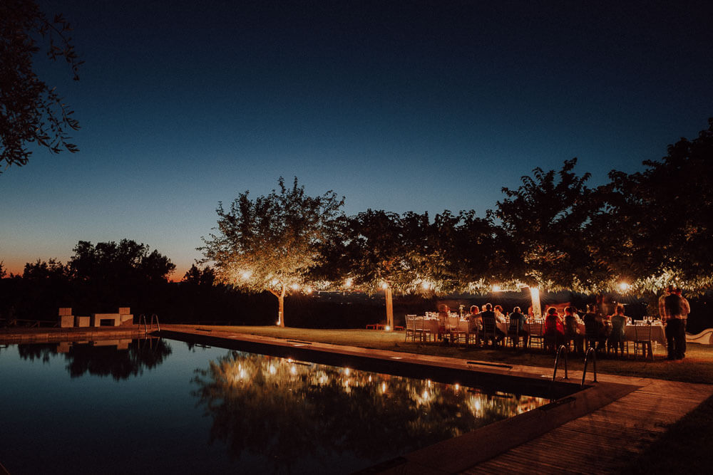 countryside wedding dinner in tuscany