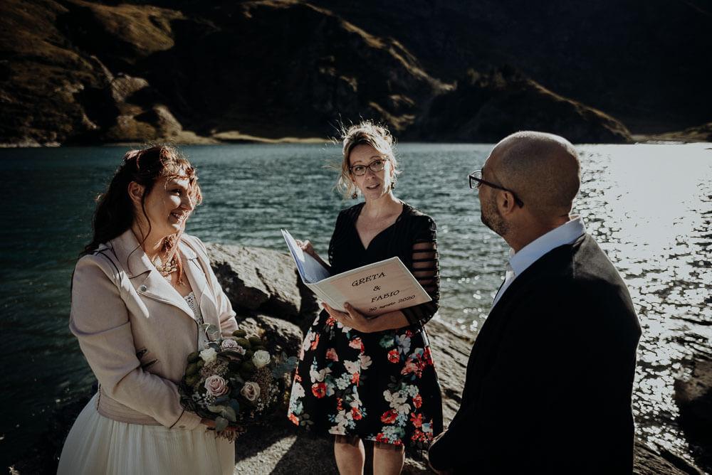 intimate adventure dolomites elopement ceremony