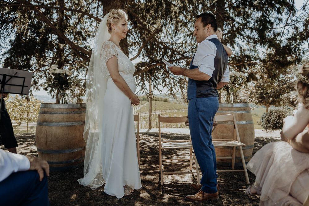 bride and groom wedding vows, piedmont wedding photographer