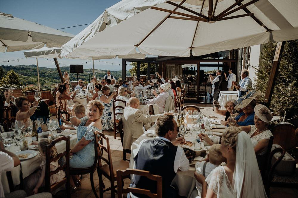 wedding lunch at il cascinone, acqui terme, italy