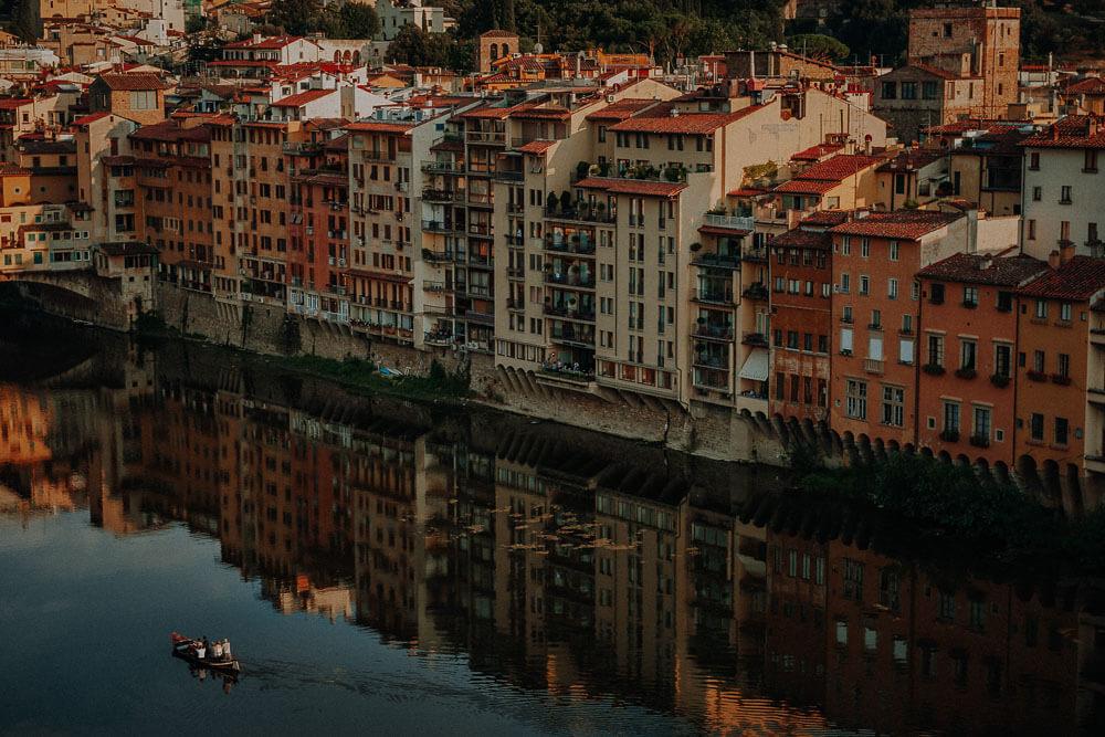 florence panorama on arno river