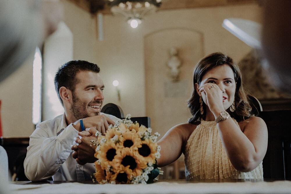 civil ceremony in the town hall of cortona