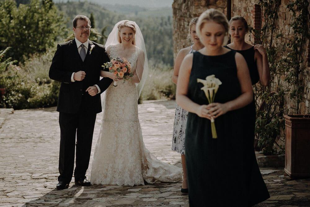 outdoor wedding in chianti