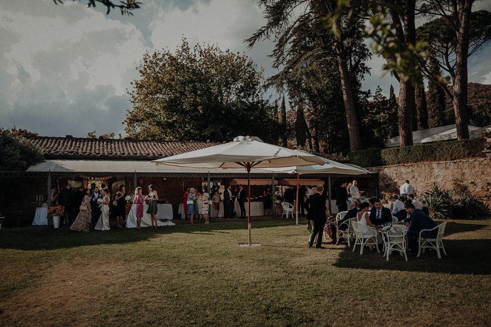 villa passerini in cortona, wedding aperitif