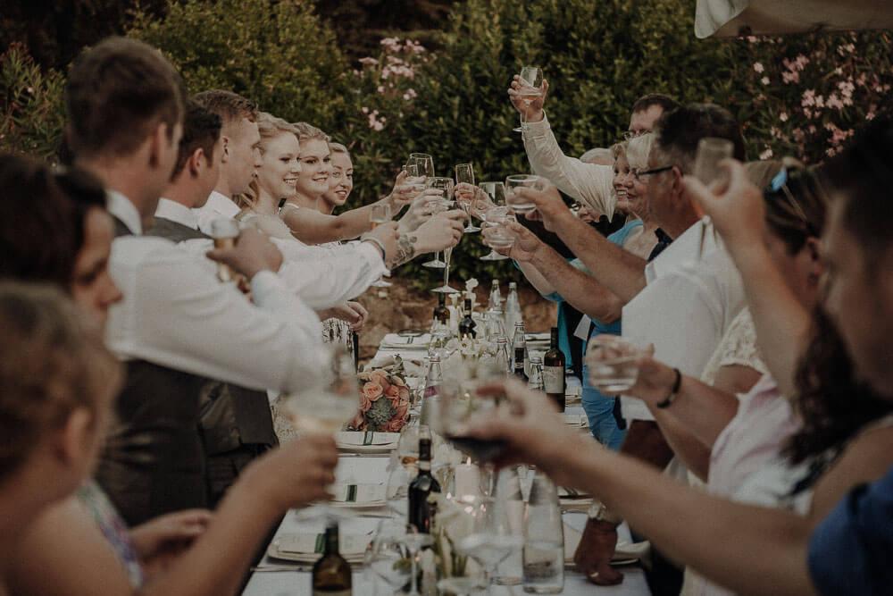 tuscany wedding dinner
