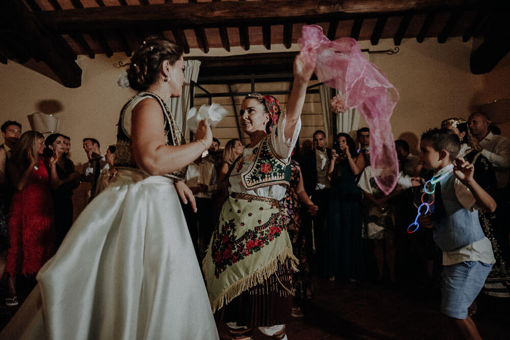 albanian traditional dances during wedding party in tuscany